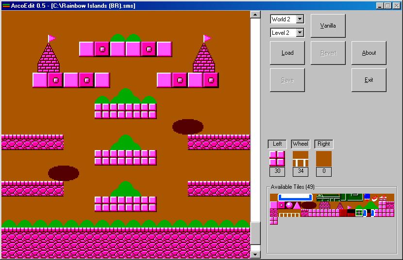 AcroEdit un éditeur de niveau pour Rainbow Islands ! 115_1572172997.png_147