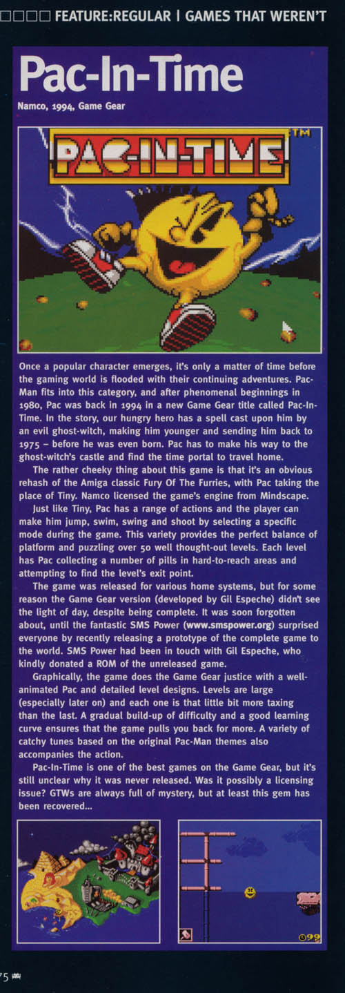 View topic - Retro Gamer 17 (UK) on Game Gear Pac-In-Time - Forums