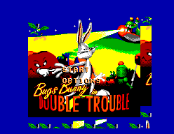 Bugs Bunny in Double Trouble SMS Title screen