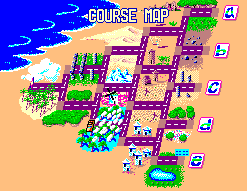 Course map screen