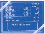 End-of-mission score screen