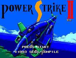 Power Strike II title screen