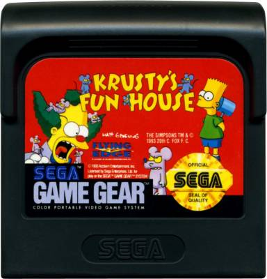 Krustys Fun House -  US -  Cartridge