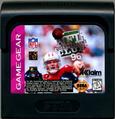 NFL Quarterback Club 96 -  US -  Cartridge