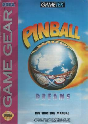 Pinball Dreams -  US -  Manual