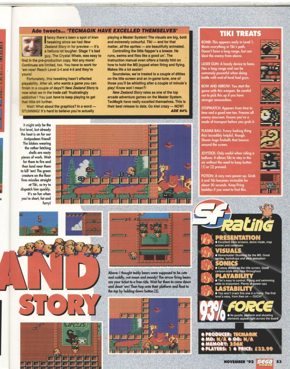 Sega Force - Issue 11 - United Kingdom Magazine - Scans - SMS Power!