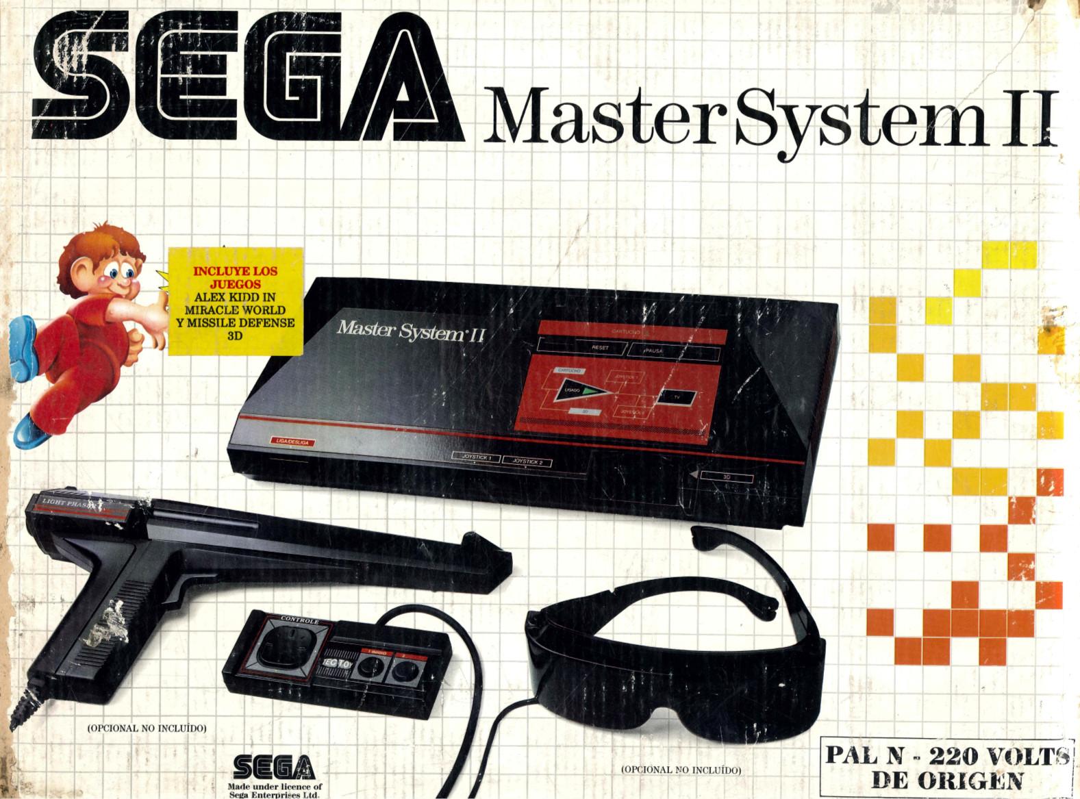 Sega Master System Tec Toy Master System Ii Ar Front