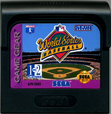 World Series Baseball -  US -  Cartridge